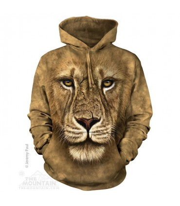 Lion Warrior - Adult Big Cat Hoodie The Mountain