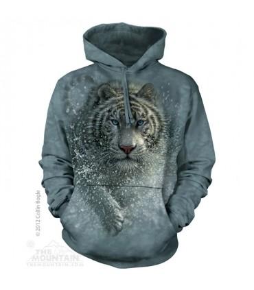 Sauvage ! Sweat shirt Tigre à capuche The Mountain