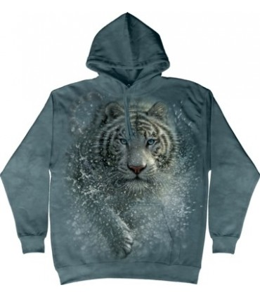 Sweat shirt à capuche Tigre Blanc The Mountain