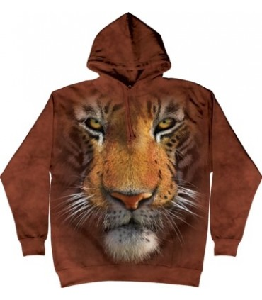 Tiger Face - Adult Big Cat Hoodie The Mountain