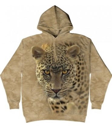 On The Prowl - Adult Big Cat Hoodie The Mountain