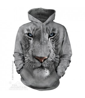 Sweat shirt à capuche Tigre Blanc The Mountain