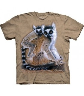 Ringtailed Lemurs - Zoo Animals T Shirt by the Mountain