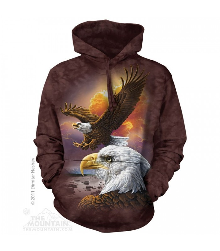 Eagle & Clouds - Adult Bird Hoodie The Mountain