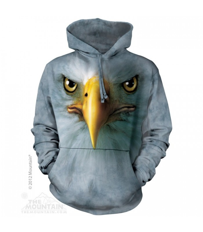 Eagle Face - Adult Bird Hoodie The Mountain