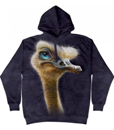 Ostrich Totem - Adult Bird Hoodie The Mountain