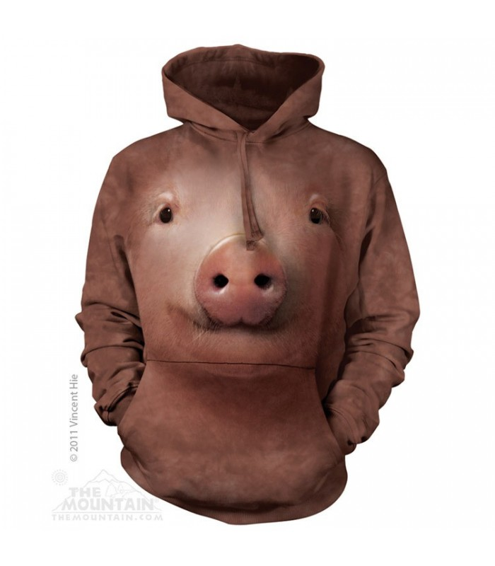 Pig Face - Adult Animal Hoodie The Mountain