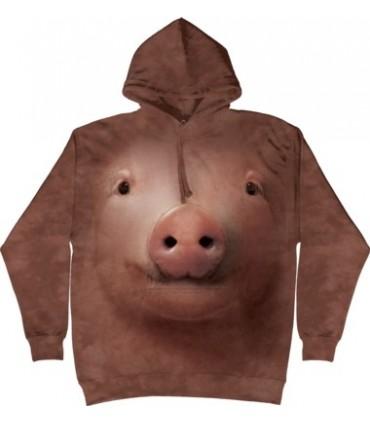 Sweat shirt à capuche Cochon The Mountain