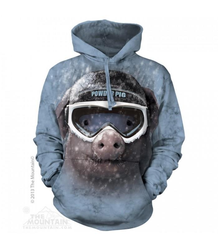 Powder Pig - Adult Animal Hoodie The Mountain