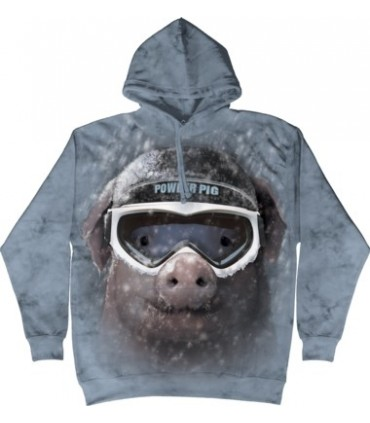 Cochon au ski - Sweat shirt à capuche The Mountain