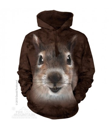 Squirrel Face - Adult Animal Hoodie The Mountain