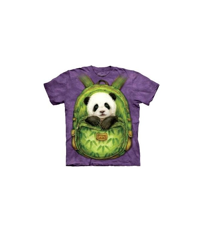 Backpack Panda - Panda T Shirt by the Mountain