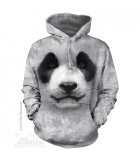 Big Face Panda - Adult Animal Hoodie The Mountain
