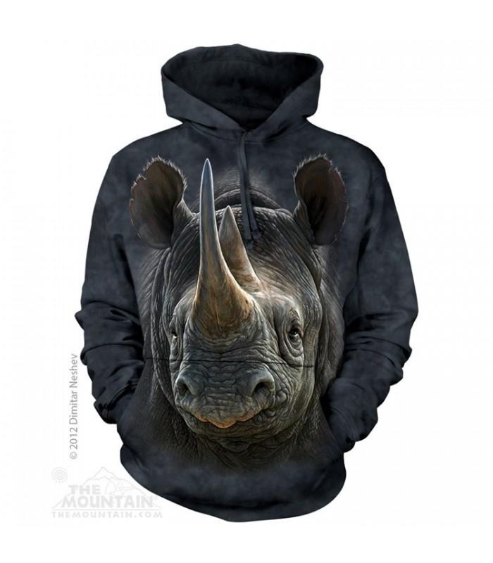 Sweat shirt à capuche Rhinocéros The Mountain