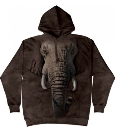 Elephant Face - Adult Animal Hoodie The Mountain