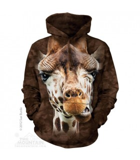 Giraffe Face - Adult Animal Hoodie the Mountain