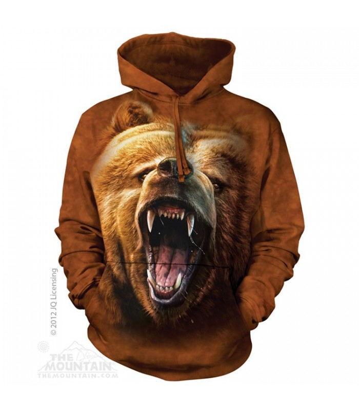 Grizzly Growl - Adult Bear Hoodie The Mountain