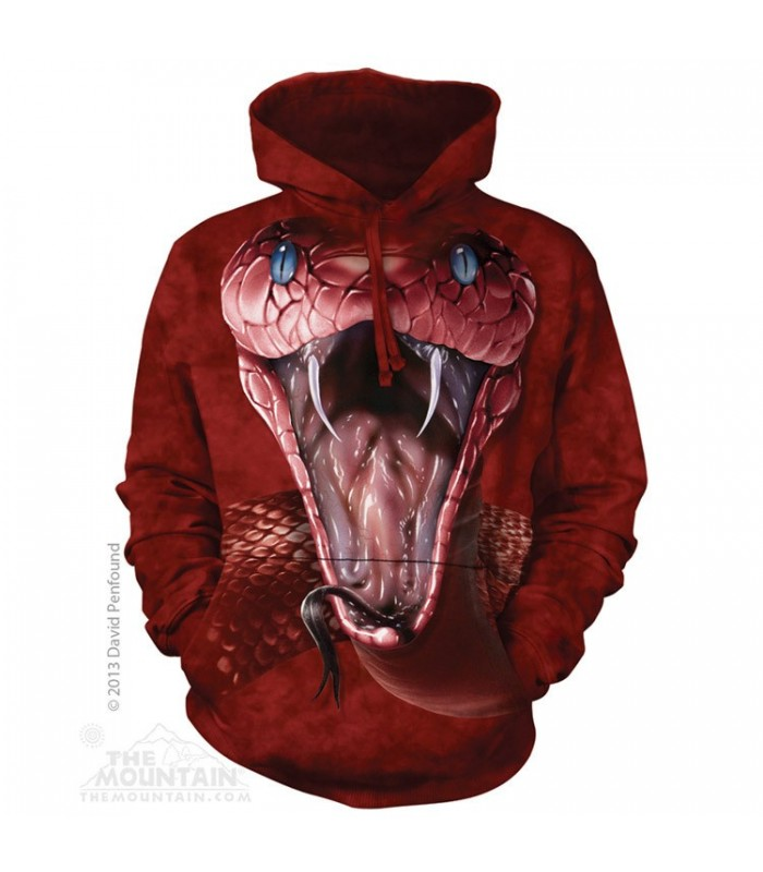 Red Mamba - Adult Reptile Hoodie The Mountain