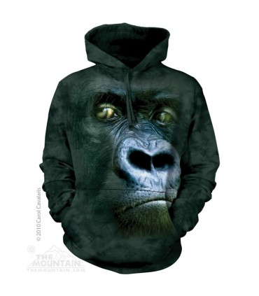 Silverback Portrait - Adult Gorilla Hoodie The Mountain