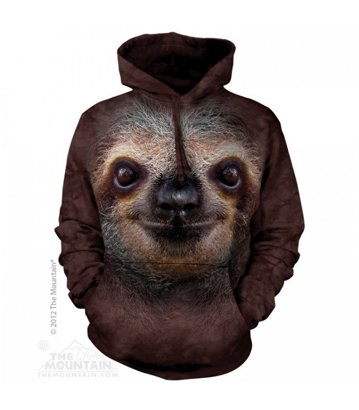 Sloth Face - Adult Animal Hoodie The Mountain