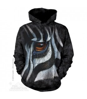 Zebra Eye - Adult Animal Hoodie The Mountain