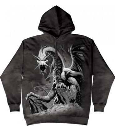 Sweat shirt à capuche Dragon Blanc The Mountain