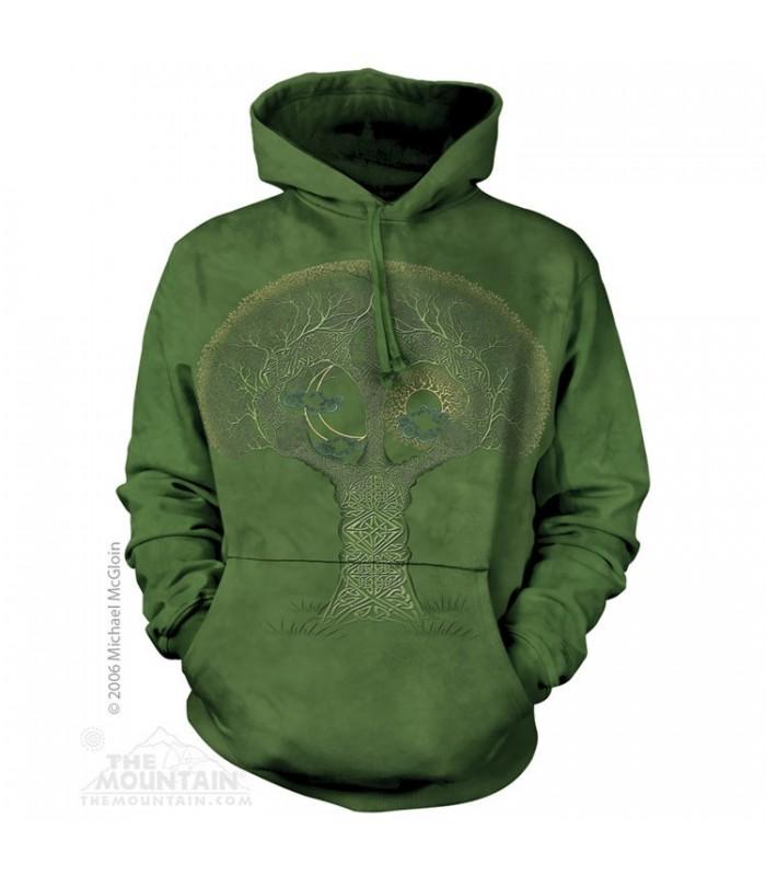 Sweat shirt à capuche Arbre Celtique The Mountain