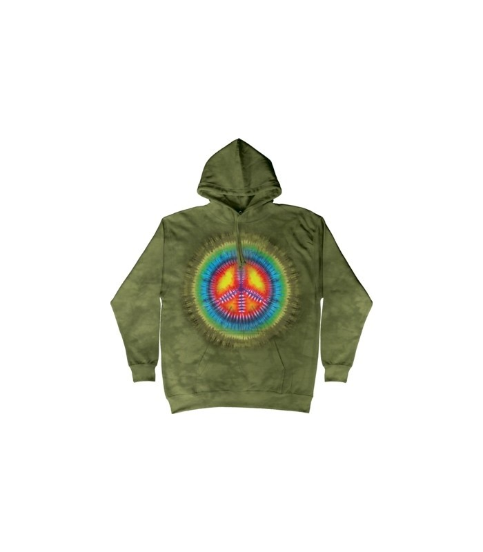 Peace Tie Dye - Adult Inspirational Hoodie The Mountain