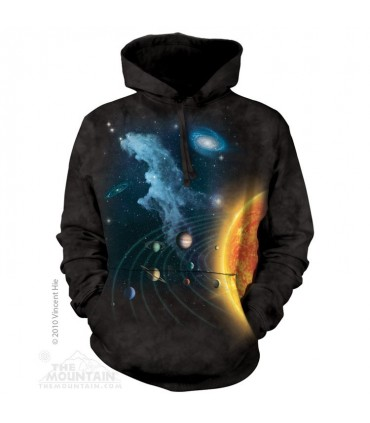 Solar System - Adult Space Hoodie The Mountain