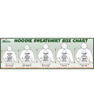 Sweat shirt à capuche Système Solaire The Mountain