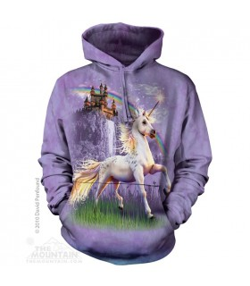 Unicorn Castle - Adult Fantasy Hoodie The Mountain