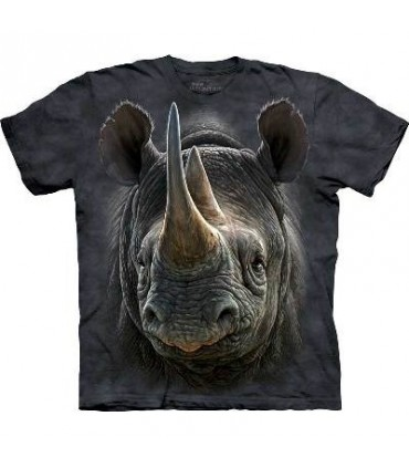 Black Rhino - Animal T Shirt Mountain