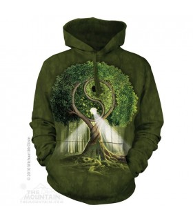 Arbre Yin Yang - Sweat shirt à capuche The Mountain