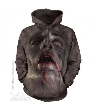 Zombie Face - Adult Horror Hoodie The Mountain