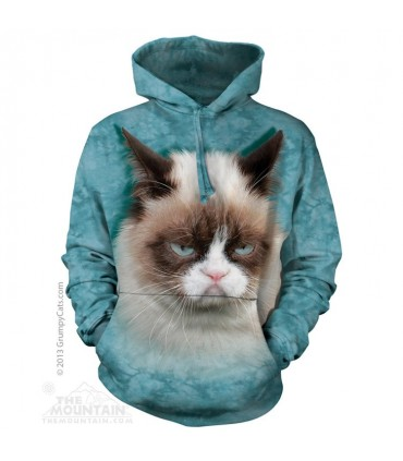 Grumpy Cat - Adult Cat Hoodie The Mountain
