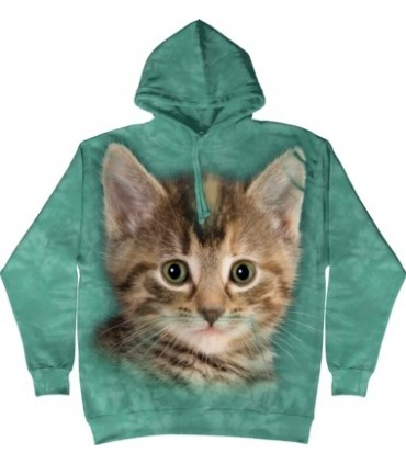 Striped Kitten - Adult Cat Hoodie The Mountain