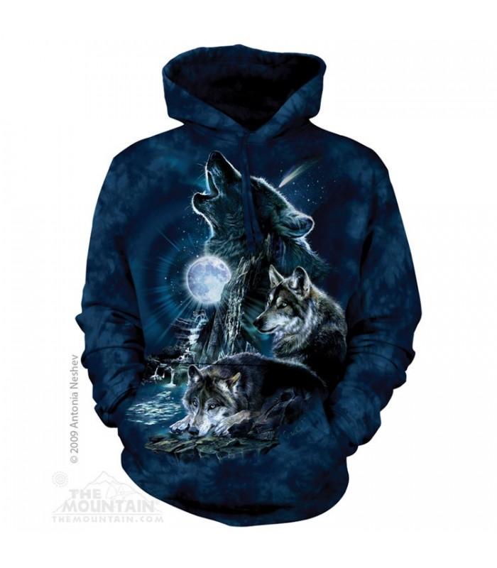Hurler à la Lune - Sweat shirt Loup à capuche The Mountain