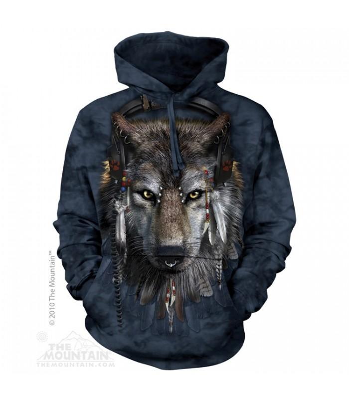 DJ Fen - Sweat shirt Loup à capuche The Mountain