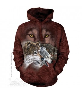 Find 9 Wolves - Adult Wolf Hoodie The Mountain