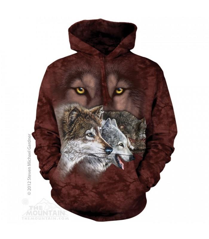 Trouver 9 loups - Sweat shirt à capuche The Mountain