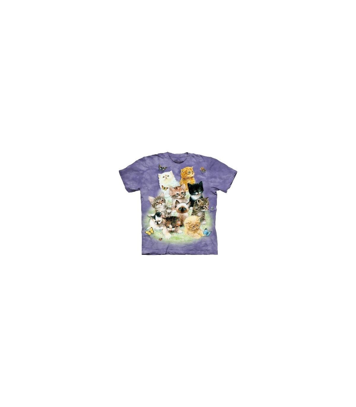 1080 All Sizes Ten Cute Kittens /& Butterflies The Mountain T-Shirt
