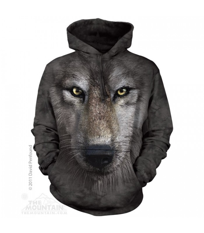 Wolf Face - Adult Wolf Hoodie The Mountain