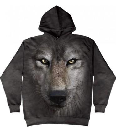 Sweat shirt à capuche Loup The Mountain
