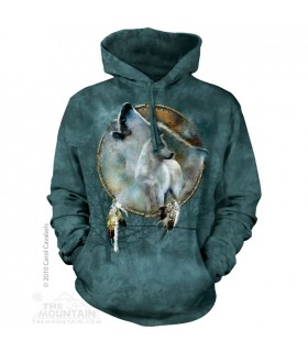 Wolf Spirit Shield - Adult Wolf Hoodie The Mountain