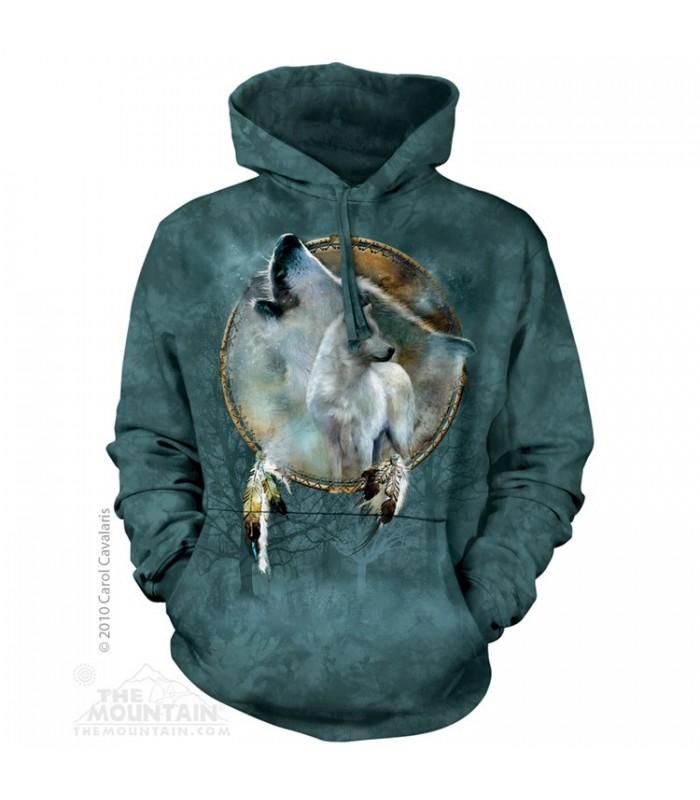 Bouclier Loup - Sweat shirt à capuche The Mountain