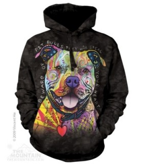 Attention au Pit Bull - Sweat Shirt Chien à capuche The Mountain
