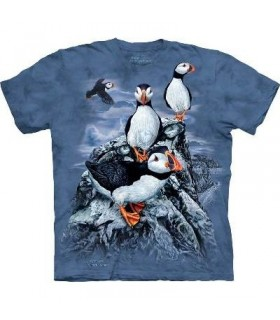Find 10 Puffins - Zoo Animals T Shirt by the Mountain