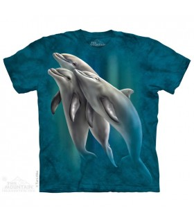 Three Dolphins - Aquatics T Shirt The Mountain