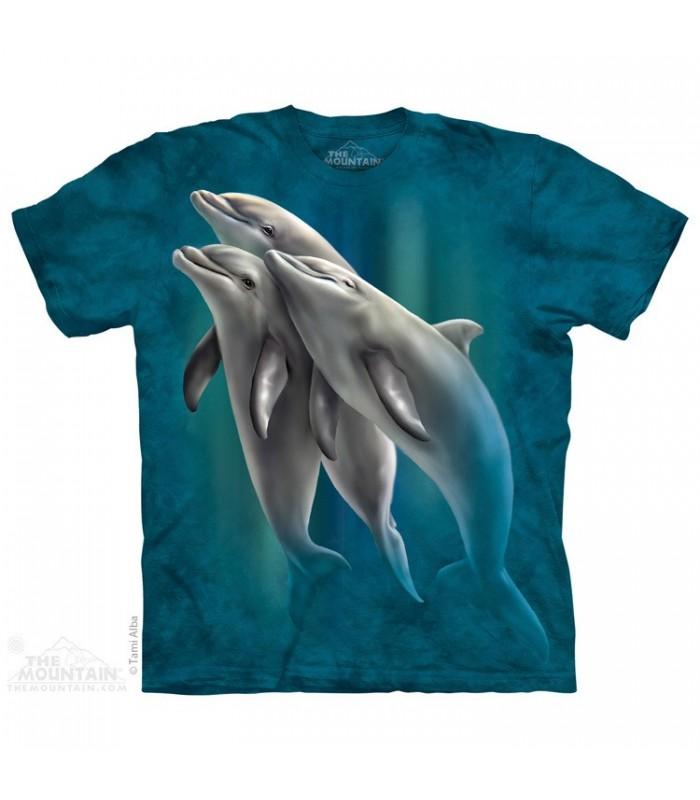Three Dolphins - Aquatics T Shirt The Mountain