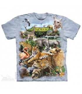 Zoo Puzzle - Animal T Shirt The Mountain
